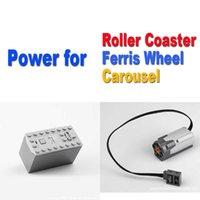 MOC Motor 88000+8883 Suit for Roller Coaster Ferris Wheel Carousel Fit 10257 10247 10261 Power Functions Blocks H0917