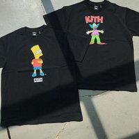 Высокое качество Футболка Мода Бренд Kith Co Фирменная анимация Симпсоны Напечатанный клоун с коротким рукавом