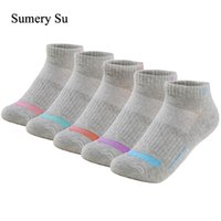 Running Socks Women Casual Daily Ankle Outdoor Cotton Colorful Stripes Compression Grey Short Sock Girls Lady 5 Colors 1 Pairs