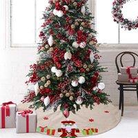 Christmas Decorations Tree Skirt 120cm Nutcracker Figures Soldier Xmas Skirts Round Carpet Floor Mat