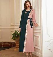 Ethnic Clothing Muslim Dress Women Dubai Turkey Robe Embroidery Kaftan Long Sleeve Wild Dresses Caftan Abaya Islamic Plus Size