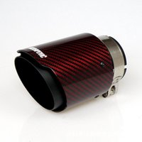 Manifold & Parts The Black And Red Single-out Carbon Fiber Scorpio Universal Car Exhaust Muffler Modification Tail Throat