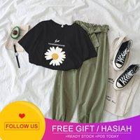 Harem Pants 2-piece fashion 9-point casual pants + T-shirt show thin women's clothing 2021 East Gate new suit women's clothing