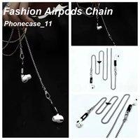 Designer de moda Apple Airpods Chain Capas Com Caixa de Origianl Embalagem para Airpod 1 2 3 Pro Samsung Fone de ouvido Acessórios Atacadista 061820
