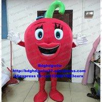 Maskottchen Kostüme Rot Heißpfeffer Chili Chili Tomaten Liebe Apfel Maskottchen Kostüm Erwachsene Zeichentrickfigur Werbeantrieb Kostüm ZX2549