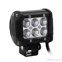 """Lampor 4 """"Inch 18W Cree LED Work Light Barlampa för motorcykel traktor båt från väg 4WD 4x4 lastbil SUV ATV Spot Flood 12V 24V"""