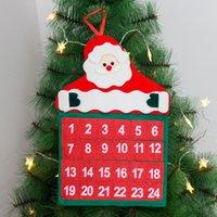 크리스마스 24 일 타이밍 달력 빨간 산타 클로스 비 짠 벽 달력 크리스마스 카운트 다운 장식 W-00806