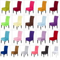 Chair Covers Solid Color Cover Spandex Stretch Slipcovers Protection For Dining Room Kitchen Wedding Banquet