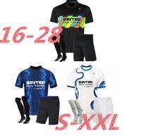 Adults and kids Inter Soccer Jersey Lukaku Milan Vidal Barella Lautaro Eriksen Alexis 21 22 Football Shirt 2021 2022 Uniforms Men + Kids Kit 4th Fourth 888