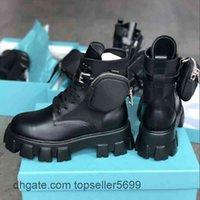 Kadın Boot Motosiklet Rois Bayanlar Deri Çıkarılabilir Keycase Çanta Ve Naylon Savaş Martin Çizmeler Parti Elbise Serin Kalın Alt Ayakkabı