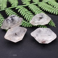 자연 백색 크리스탈 원래 돌 더블 뾰족한 칼럼 장식 플래시 다이아몬드 점상 정화 Degaussing Energy