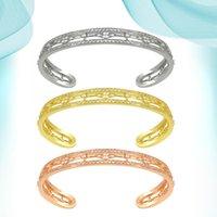 Bangle Women's Bracelets Copper Jewelry Gold Cuff Spain Light Yellow Color Vintage Wholesale Fashion Dubai