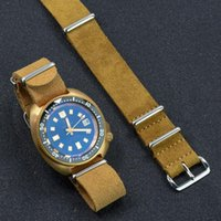 Watch Bands Soft Suede Leather Nato Strap 20mm 22mm Brown Khaki Band Belt Wrist Quick Release Accessories