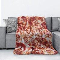 Wurstkäse Pizza Flanelldecke Mikrofaser dekorative extra weiche Wurfdecke Fuzzy leichte flauschige gemütliche Plüsch Comfy