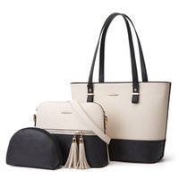Designers Totes Bag Fashion Sac Handbags For Women Shoulder Bags Tote With Pouch Wallet Two-tone Woman Shopping Purse