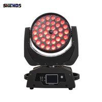SHEHDS High Quality Lights LED Wash Zoom 36x18W RGBWA+UV Moving Head Lighting DMX512 DJ Disco Stage Lightings Good For Party NightClub