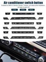 Neue 12 / 14pcs A / C Heizknopf Key Caps Reparatur-Kit-Schalter-Taste-Abdeckung für BMW 5/6/7 Serie F01 F02 F06 F07 F10 F11 F12 F13 GT Auto