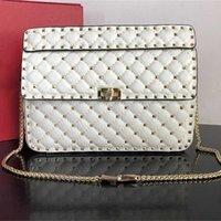 Handbag Women Bag Luxurys 2021 rivet rhombic chain large capacity women's versatile One Shoulder Messenger Bag Purse yyds