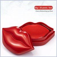 Zozu Cherry Hydratant Hydratant Hydratant Masque de collagène Lèvres Plump Masker Hydrogel Exfolier pour améliorer les lignes Coloris maquillage soin