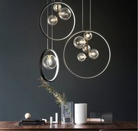 Modern Luxury Pendant Lamp Bar Coffee Shop Kitchen Lighting Clear Glass Bubble Designer Hanging Light Fixture G9 Sockets