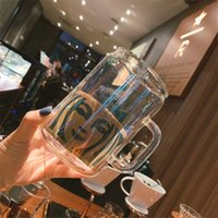Hot Sales 700ml Starbucks Cup design criativo canecas Beber de vidro beber bebida fria café da manhã copos de leite laser impressão 1909 v2