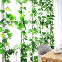 Plantes vertes artificielles suspendus de feuilles de raisin décor escalade tigre fausses fleurs vigne jardin de jardin décoration décoration guiche de décoration