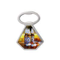 Heat Transfer Metal Beer Bottle Opener Fridge Magnet Sublimation Blank Corkscrew Household Kitchen Tool 3 Style KKB7843