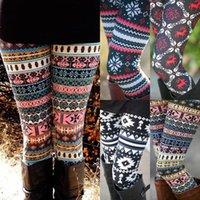 Leggings das Mulheres 2021 Moda Mulheres Outono Inverno Roupas Quente Slim Calças Exóticas Casual Natal Snowflake