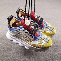 Piattaforma Casual Sneakers Catena Catena di reazione Stivali in pelle Scarpe da ginnastica Classic Originals Patchwork Tempo libero Scarpa per esterni Piattaforma per la pizzo Stampa Sneakers
