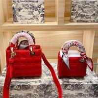 Frauen Luxurys Taschen 2021 Berühmte Designer Diamant Gittergewinde Schaffell Crossbody Single Schulter Lady Bag Handtaschen Weibliche Handtasche Kreuzkörper