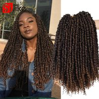 Passion Twist 6 packs Fluffy Twists Stretched 12'' Ombre Synthetic Crochet Braiding Hair Extension For Pre Twisted
