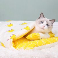 Cat Beds & Furniture Warm Lovely Kitten Kennel Pet Supplies Puppy House Sofa Dog Bed Sleeping Bag Small Dogs