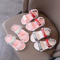 Sandals Girl's Sandal Sports 2021 Summer Princess Shoes Soft Soles Children's Net Red Beach Kids