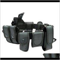 Apoyo de la cintura Cinturones de seguridad multifuncionales Tactical de entrenamiento al aire libre Guardia de la utilidad Cinturón de trabajo con la bolsa Conjunto Qjdyi 9FTTX