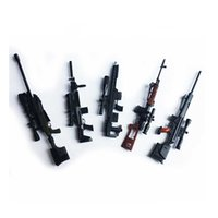 5PCS 1: 6 SVD Sniper Rifle Gun Modell Toy Mini Adornment Färgglada Cosplay Props Samla Cool Boys Födelsedagspresent