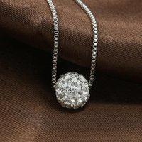 قلادة القلائد رائعة الماس مجوهرات shambhala الكرة اللؤلؤ قلادة الترقوة سلسلة الأوروبية والأمريكية الأزياء للنساء الهدايا