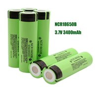 Batteria di alta qualità 18650 NCR18650B 3400mAh 3.7 V batteria al litio Li-on cella piatta piatta batterie ricaricabili per Panasonic per la sigaretta E lampada flash Fedex nave