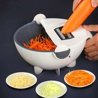 DHL delivery Household Fruit & Vegetable Tools Grater Cutter Potato Carrot Cucumber Slice Slicer Washing Water Basket Web Celebrity Products 9 in 1