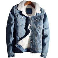 Мужские куртки Casaco Jeans Masculino Plus Elvet, Jaque de Cowboy Lã, размер 6xL, Moda Inverno 0ZDQ