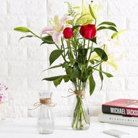 Vases Modern Minimalist Glass Vase Living Room Transparent Flower Arrangement Decoration Creative Ornaments Desktop Plug