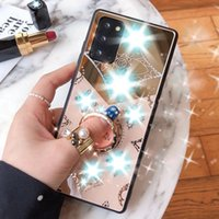 Lüks Elmas Yüzük Standı Samsung Galaxy S21 S21PLUS S21ULTRA S20FE S20 Ultra Artı S20KASı S20Plus Ayna Telefon Kapak