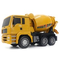 Huina 1333 1:18 6CH Die-Cast Alloy Pilot Mikser Engineering Truck Zabawki Model statyczny Caterpillar Wheel Kids RC Truck Gift Q0726