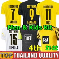 20 21 22 HAALAND REUS soccer jerseys dortmund 2021 4th footb...