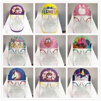 Party Masks VVIV Party Masks Designer Masks Children Cartoon Shield With Glasses PET Anti-fog Prevent Full Face Isolation Protective Party Mask Kid Gifts