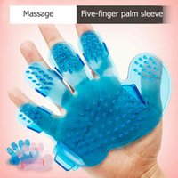 Pet Dog Cat Grooming Shower Dog Brush Bath Massage Brush Pet Hair Comb Hand Shape Glove Five Fingers Pet Clean Comb Pets Supply DBC VT0959
