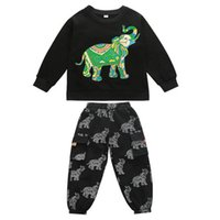 Clothing Sets Boy Suit Boys Kids Outfits Clothes Spring Autumn Cotton Cartoon Long Sleeve T-shirts Trousers Pants Sports Tracksuit 2Pcs 2-8Y B4796