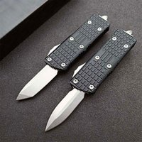 On Sale!! MT UT Automatic Tactical Knife D2 Stone Wash Blade CNC 6061-T6 Handle EDC Knives With Nylon Bag