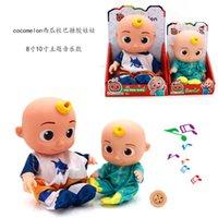Enamel cocomelon watermelon school bus theme music JOJO doll animation cartoon baby comfort toy