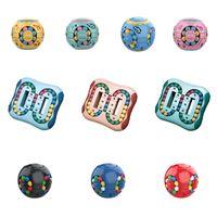 Divertido rompecabezas Bola Fidget Juguete Girar Pequeños Cubos Mágicos Cubos de frijol Alivio de estrés Mini Spin Toys Gyroscopio Niños Aprendizaje educativo