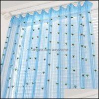Drapes Deco Supplies & Gardenwedding Romantic Wall Home Party Hanging El Breathable Decorative Partition Window Curtain Drop Delivery 2021 P
